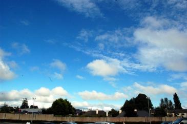 The sky over Lidl car park on 7th Aug '12